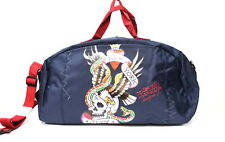 ED HARDY NEW YORK CITY SKULL & EAGLE HOLDALL / DUFFLE/ WEEKEND/ TRAVEL BAG * NEW