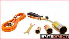 GAS Torch Burner + 1.5m hose 3 burners ROOFER PLUMBER UK Propane Regulator WEED