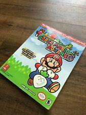 Super Mario Advance Prima's Official Strategy Guide Book Cover GBA Game Rare