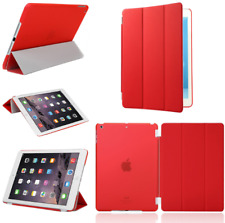 For Apple iPad 4 3 2 mini Air 2 Pro Case Cover Smart Stand Leather Magnetic Red