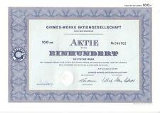 Girmes-Werke AG 100dm 1969 OEDT Krefeld
