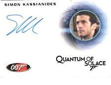 """James Bond Heroes & Villains - A134 Simon Kassianides """"Yusef"""" Autograph Card"""
