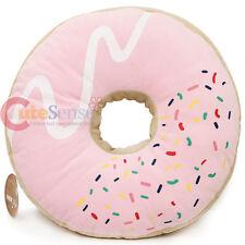 "Pink Sugar Doughnut  Cushion Donut Cushion Food Pillow 16"" Cotton Food"