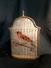 Cage à oiseaux mural en verre mercurisé