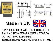 24V 5 PIN FLASHER 2+1 X 21, Equivalent: 4DM 003 474 017, 621-02-P5