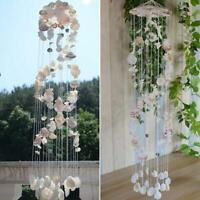 Wind Chimes Mobile Sea Shell Clear with Beads Chimes Home Garden ornament