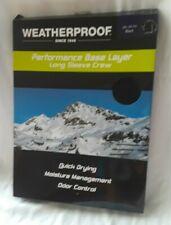 Weatherproof Black Long Sleeve Crew Base Layer Shirt Quick Dry Odor Control XXL