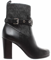 MICHAEL KORS Zapatos Mujeres Botas Heather Bootie Leather 40F8HAHE6L Black New