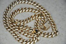 """14K Vermeil Necklace 10mm (28"""")  Men's Shop Gld Gold with $25 gift certificate"""