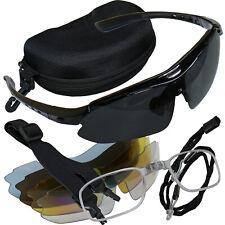 Sportbrille Schießbrille Softair Schutzbrille 5 Wechselgläser & Zubehör inkl Box