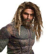 Adult Aquaman Wig & Beard Set Superhero Fancy Dress Costume Accessory