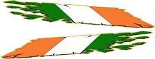 """Vinyl Decal- Irish Ireland Motorcycle Racing flames stickers decals wrap 24"""""""
