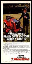 1980 WHEEL HORSE Riding Lawn Mower Garden Tractor AD w/Jackie Stewart