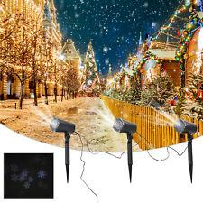 Homcom Projecteurs LED Noël Flocons de Neige projection ajustable