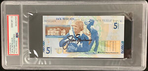 Jack Nicklaus Signed Currency $5 Pounds Golden Bear Autograph PGA HOF PSA/DNA