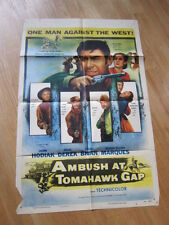 AMBUSH AT TOMAHAWK GAP  Original 1953 poster John Derek western John Hodiak
