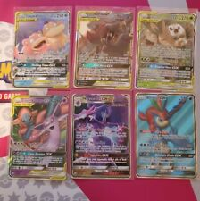 Pokemon Unified Minds Six Card Gx Lot