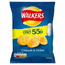 WALKERS CHEESE AND ONION CRISPS FULL CASE X32 BAGS FREE DELIVERY!