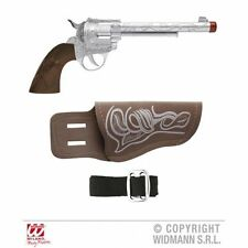 New Cowboy Gun With Holster and Belt Novelty Prop for Wild West Fancy Dress