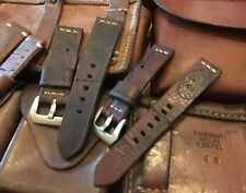Custom Hand made to Order Minimal Stitch Swiss Stamps Ammo Pouch watch strap.