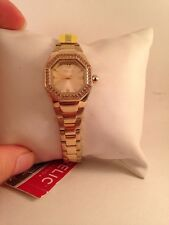 Relic By Fossil Ladies Ainsley Champagne Crystal Gold Tone Watch ZR34196-h11