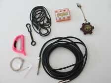 Guitar Accessory Lot - Sam Bong Pitch Pipe, Bee Pitch, Strings, Cables