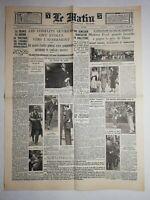 N1082 La Une Du Journal Le Matin 8 juin 1936 démission significatif Angleterre