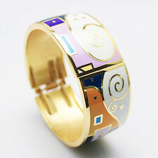 Wide Bangle Enamel Bracelet Enamel Jewelry Bangles Copper Jewelry Wide 2.5cm