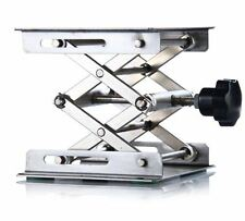 """lab Stainless Steel Lab Jack 4""""(10cm)x4""""(10cm)Scissor Stand lifting table new"""