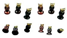 4 Wholesale Lot Incense Burner Holder Brass Owl Statue 4Pcs 1.5""