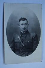 09A1 WWII CPA CARTE POSTALE PHOTO PORTRAIT D'UN POILU 1939 / 1940 SOLDAT