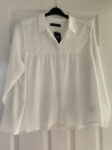 M&S Collection Off White Ivory Cream Blouse Size 16 BNWT Marks and Spencer