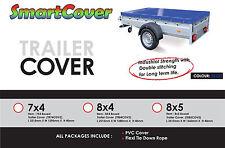 TRAILER COVER - HEAVY DUTY WATERPROOF VINYL - BLUE - 4 feet x 3 feet with CORD