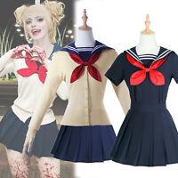 My Hero Academia Himiko Toga Cosplay Costume Sailor School Uniform Outfit Set