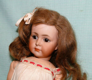 Antique porcelain K&R doll 117 closed mouth MIB rare Mein Liebling
