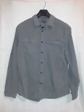 Eddie Bauer Gray Check Classic Fit Long Sleeve Shirt Size XL Button Front