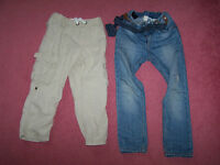 H&M jeans and trousers boy's size 4-5 years and 5-6 years
