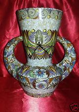 Vaso in maiolica decorato con manici - A.M.A. Pesaro Italia - '900