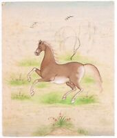 Hand Painted Finest Work Gentle Horse Miniature Painting Exquisite Detailed Art