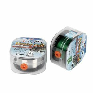 Fluorocarbon Coating Fishing Line 200m Japan Strong Swimming Mainline Tippet New