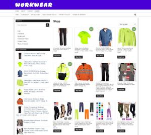 WORKWEAR WEBSITE - ECOMMERCE - ONE YEARS HOSTING + NEW DOMAIN