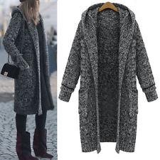 Knee Length Cotton Blend Hood Coats & Jackets for Women