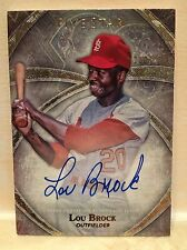 2014 Topps Five Star Lou Brock HOF On Card Autograph 210/299 Cardinals