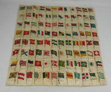 96 Sovereign Cigarette Tobacco Flag Silks Antique Quilt Top
