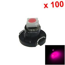 100x Pink AUTO T3 Lamp NEO Dash Twist Socket HVAC Instrument Light 1 1210 SMD LE