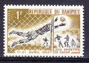 Dahomey 1973 MNH Sc 177 Soccer goalkeeper Football **