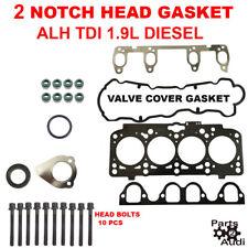 2 NOTCH Engine Cylinder Head Gasket Set w Bolts for VW TDI 1.9L  ALH  Diesel