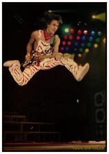 Van Halen  *LARGE POSTER* Eddie LIVE CONCERT Strat Guitar - AMAZING EARLY PIC