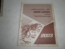 Johnson skee horse vintage snowmobile parts catalog 1969 2093