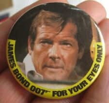 More details for james bond roger moore vintage 1981 for your eyes only film promo pin badge a